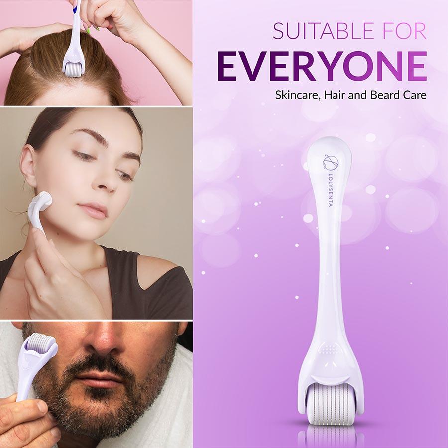 lolysenta derma roller skincare hair loss beard growth